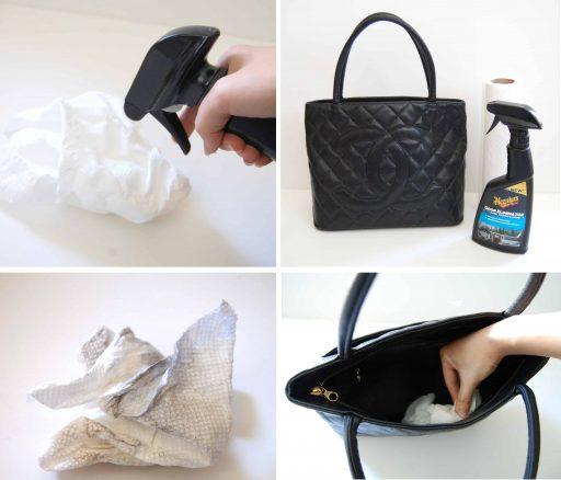 Eliminar el moho del humo de las bolsas de vendimia en aerosol